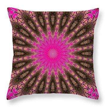 Kaleidoscope Lotus Throw Pillow