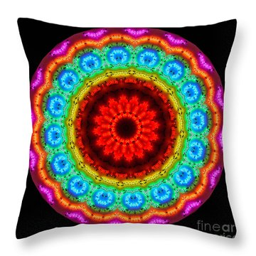 Kaleidoscope Neon Artwork Throw Pillow by Amy Cicconi