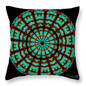 Kaleidoscope Of A Neon Sign Throw Pillow by Amy Cicconi