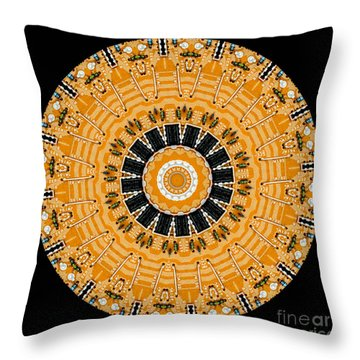 Kaleidoscope Of Computer Circuit Board Throw Pillow by Amy Cicconi
