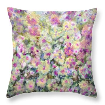 Kaleidoscope Of Flowers Throw Pillow by Don Wright