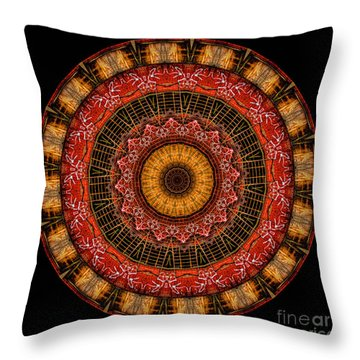 Kaleidoscope Of Graffiti Wall On Building Throw Pillow by Amy Cicconi