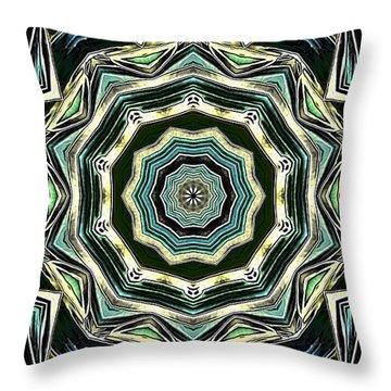 Kaleidoscope Throw Pillow by Oksana Semenchenko