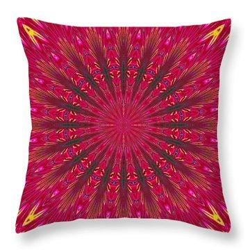Kaleidoscope Orchid Throw Pillow