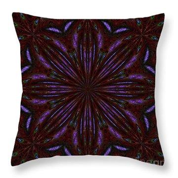 Kaleidoscope Peacoack Three Throw Pillow