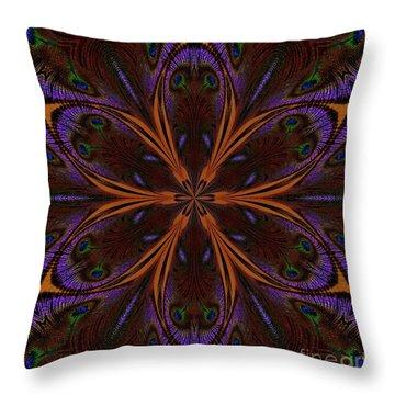 Kaleidoscope Peacock Two Throw Pillow