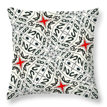 Kaleidoscope Random Numbers Throw Pillow by Amy Cicconi