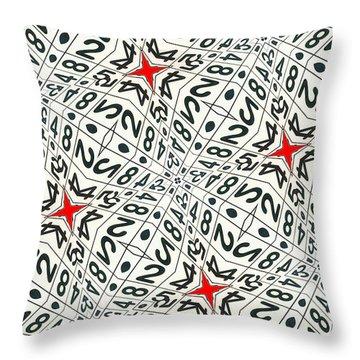 Kaleidoscope Random Numbers Throw Pillow by Amy Cicconi