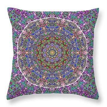 Throw Pillow featuring the photograph Kaleidoscope by Robyn King