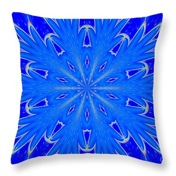 Kaleidoscope Snowflake Throw Pillow