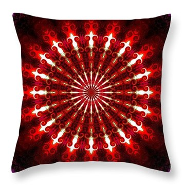 Kaleidoscope Sunset Throw Pillow