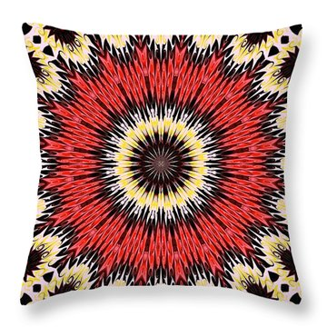 Kaleidoscope Torch Throw Pillow by Suzanne Handel