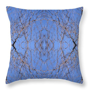 Kaleidoscope - Trees 1 Throw Pillow by Andy Shomock