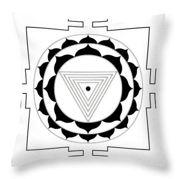 Kali Yantra Throw Pillow
