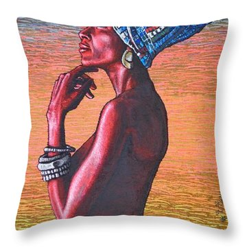 Kalimba De Luna Throw Pillow