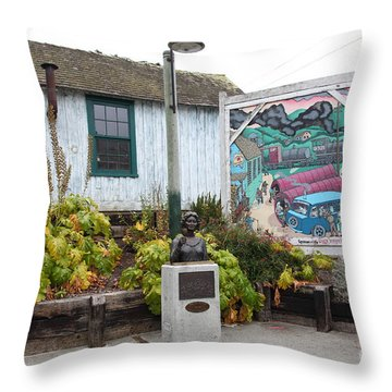 Kalisa Moore Bust Queen Of Cannery Row On Monterey Cannery Row California 5d24785 Throw Pillow