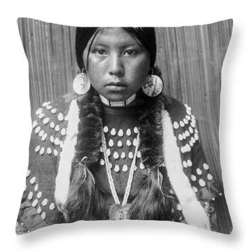 Kalispel Indian Woman Circa 1910 Throw Pillow