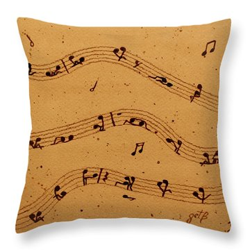 Kamasutra Music Coffee Painting Throw Pillow