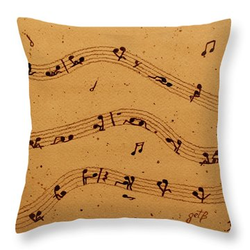 Kamasutra Music Coffee Painting Throw Pillow