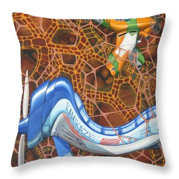 Kamikaze Kraze Throw Pillow