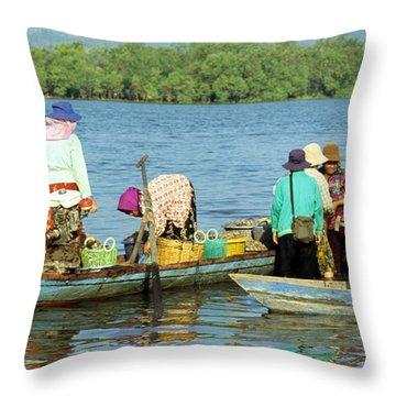 Kampot River Throw Pillow
