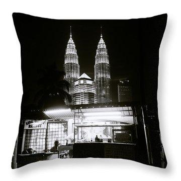 Kampung Baru Night Throw Pillow