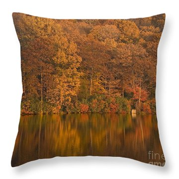 Kanawauke Lake Sundown Throw Pillow by Susan Candelario