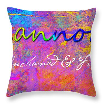 Kannon - Unchained And Free Throw Pillow by Christopher Gaston
