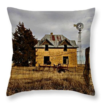 Throw Pillow featuring the photograph Kansas Castle 1 by Lynne Wright