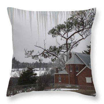 Kansas Church Throw Pillow by Liane Wright