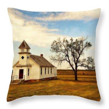 Kansas Church Throw Pillow by Marty Koch