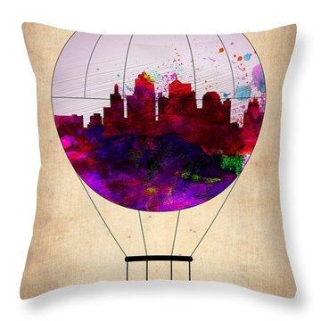 Kansas City Air Balloon Throw Pillow