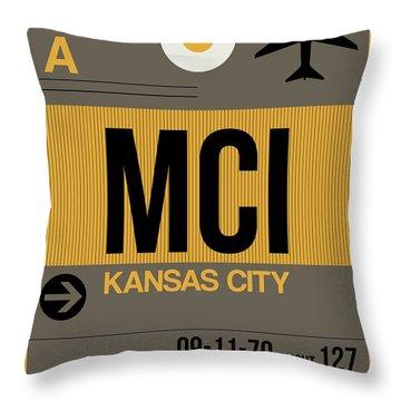 Kansas City Airport Poster 1 Throw Pillow