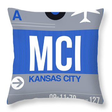 Kansas City Airport Poster 2 Throw Pillow