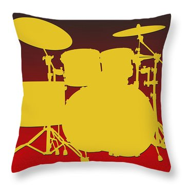 Kansas City Chiefs Drum Set Throw Pillow by Joe Hamilton