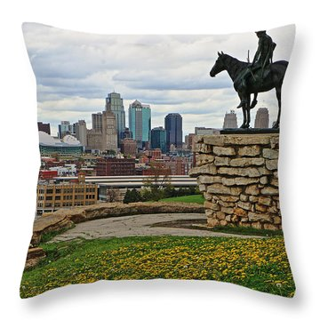 Kansas City Scout Throw Pillow