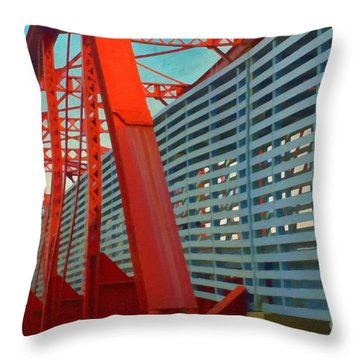 Kansas City Train Bridge - Pencoyd Railroad Bridge  Throw Pillow