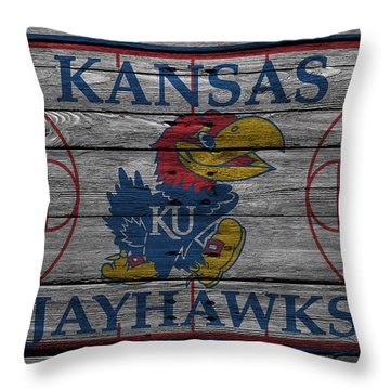 Kansas Jayhawks Throw Pillow by Joe Hamilton