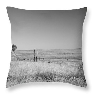 Kansas Prairie Throw Pillow