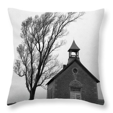 Kansas Schoolhouse Throw Pillow