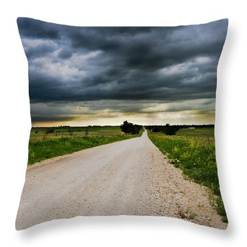 Kansas Storm In June Throw Pillow