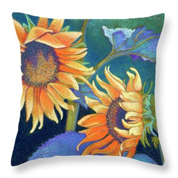 Kansas Suns Throw Pillow by Tracy L Teeter