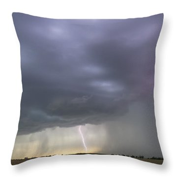 Kansas Thunderstorm Throw Pillow