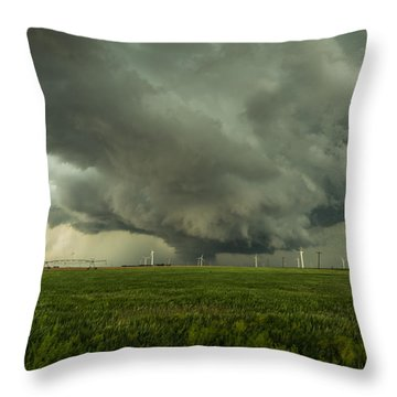 Kansas Wall Throw Pillow