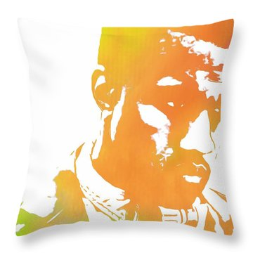 Kanye West Pop Art Throw Pillow by Dan Sproul