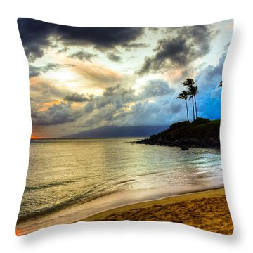 Kapalua Bay Sunset Throw Pillow
