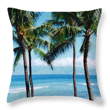Kapalua Beach Throw Pillow