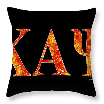 Throw Pillow featuring the digital art Kappa Alpha Psi - Black by Stephen Younts