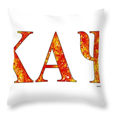 Throw Pillow featuring the digital art Kappa Alpha Psi - White by Stephen Younts