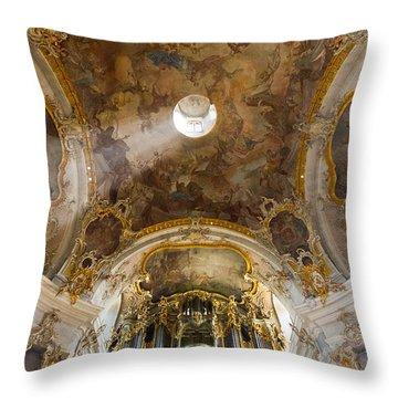 Kappele Wurzburg Organ And Ceiling Throw Pillow